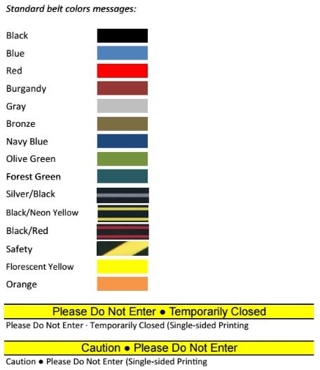 Beltrac Tempest Belt Colors