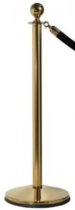 Brass Post and Rope Stanchions