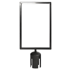 Portrait Sign Holder for Stanchion Post