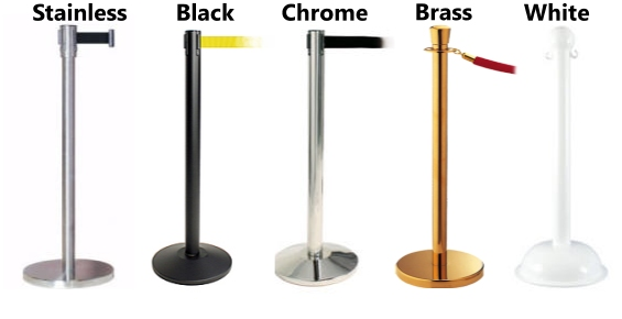 Brass Chrome Stainless Black White Stanchions