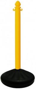 Lightweight Yellow Plastic Stanchion