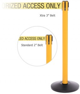 Yellow Industrial Safety Stanchions