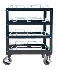 Stanchion Masters 12 Post Stanchion Cart