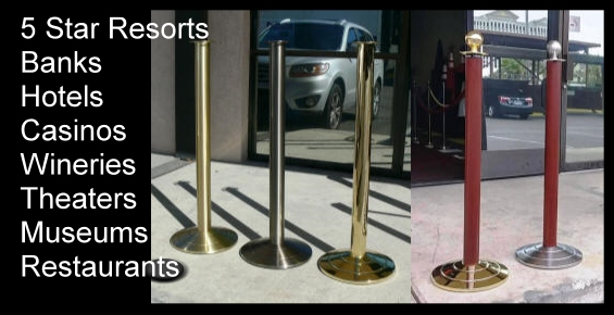 Professional High Quality Luxury Crowd Control Stanchions