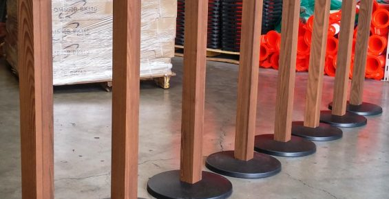 Wooden Stanchions For Outdoor Use
