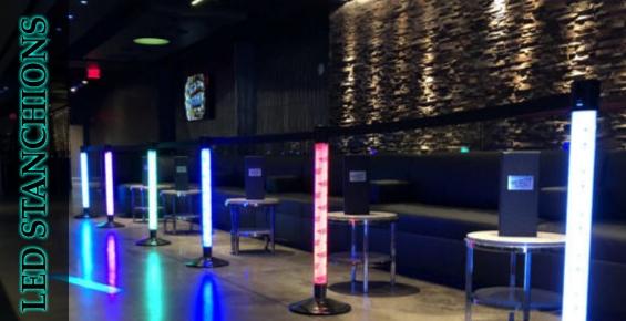 Illuminated LED Stanchions