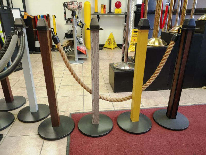 Stanchions With Wood Grain Posts