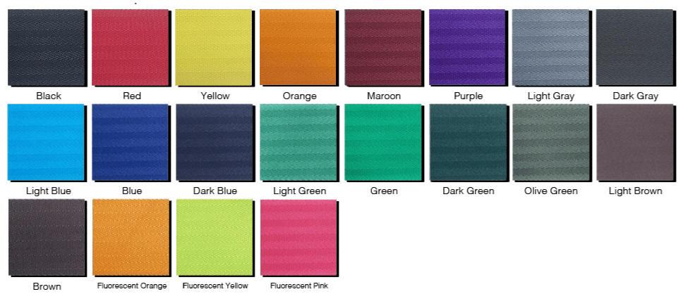 2 Inch Stanchion Belt Barrier Color Choices