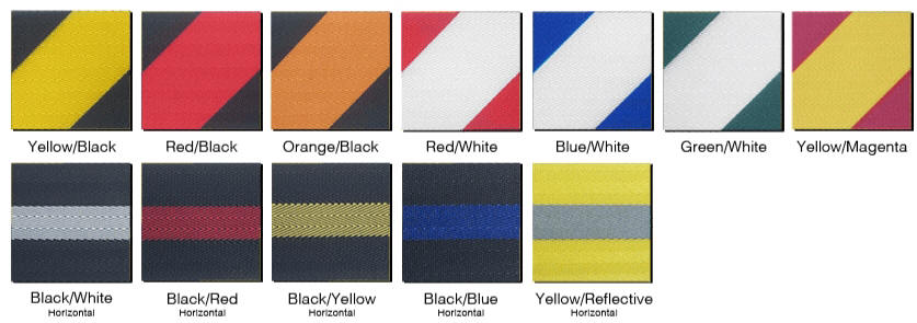 Striped Stanchion Belt Barrier Color Choices